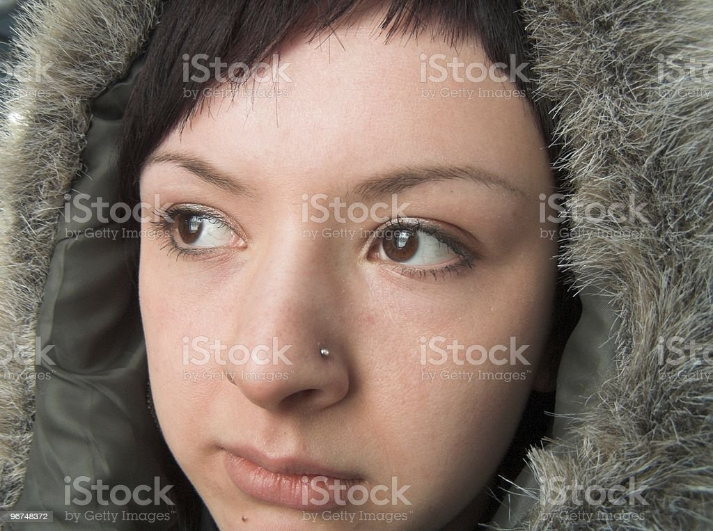 Chukchi woman royalty-free stock photo