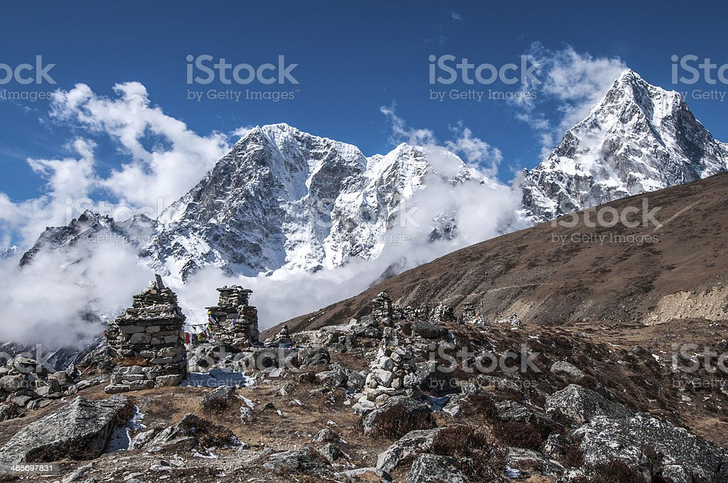 Chukpilhara Memorials - Nepal stock photo