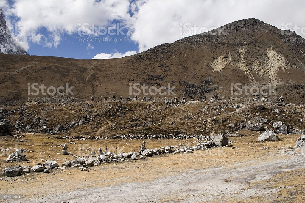Chukpilhara Memorials - Nepal stock photo