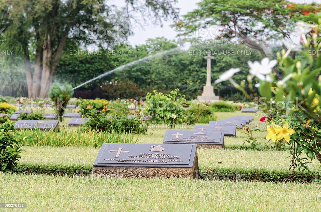 Chungkai War Cemetery, THailand stock photo
