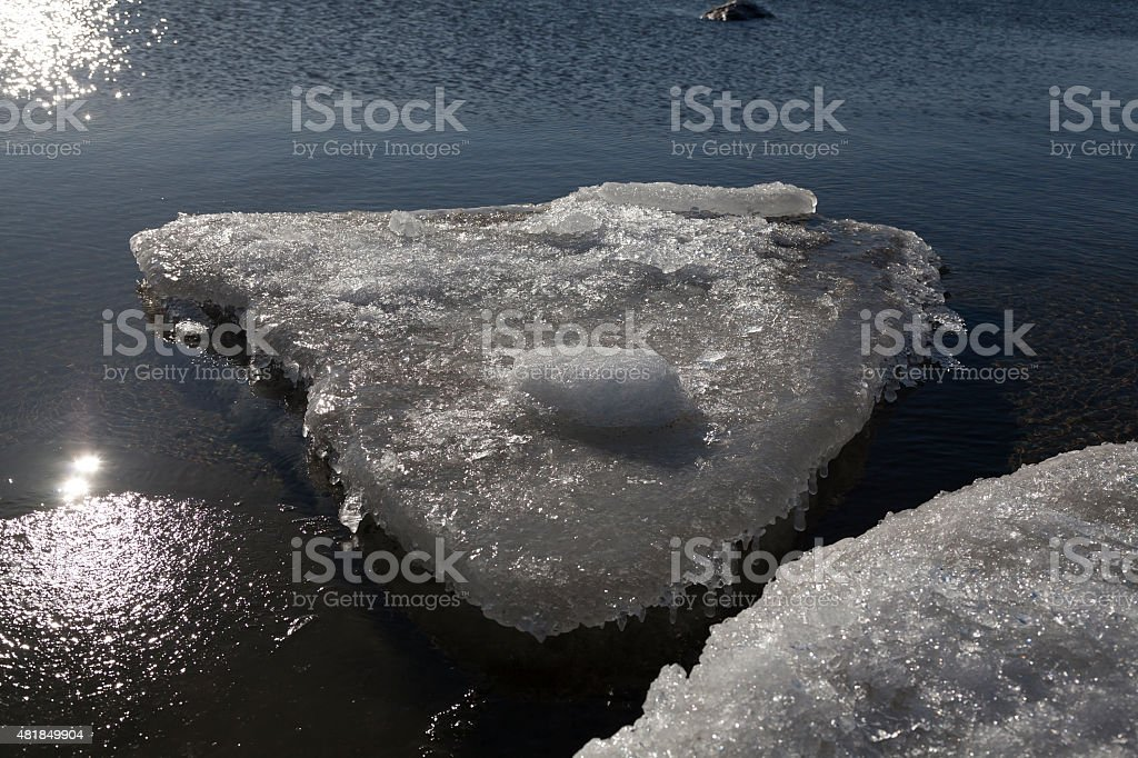 Chunk of ice royalty-free stock photo