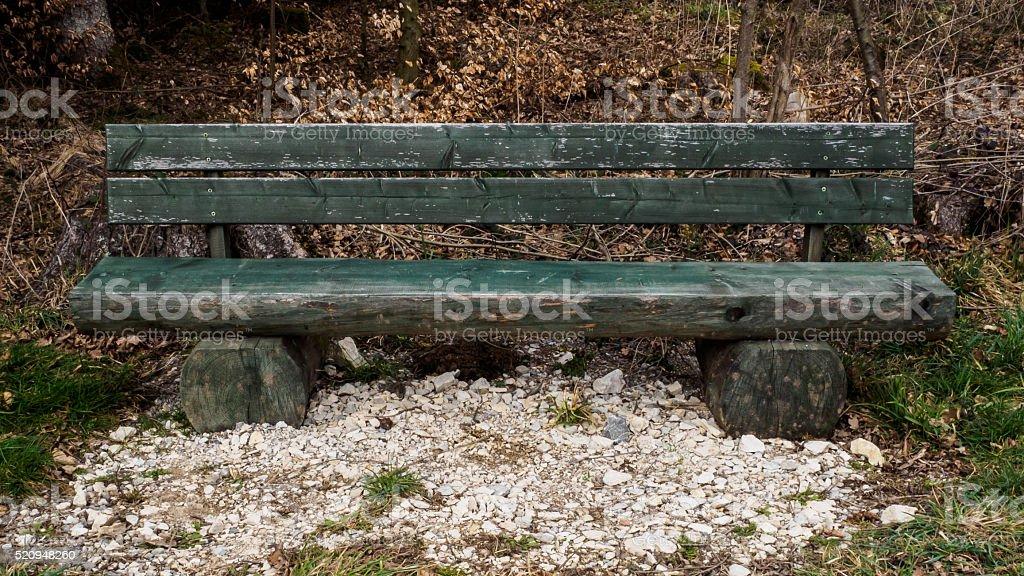Chunky bench stock photo