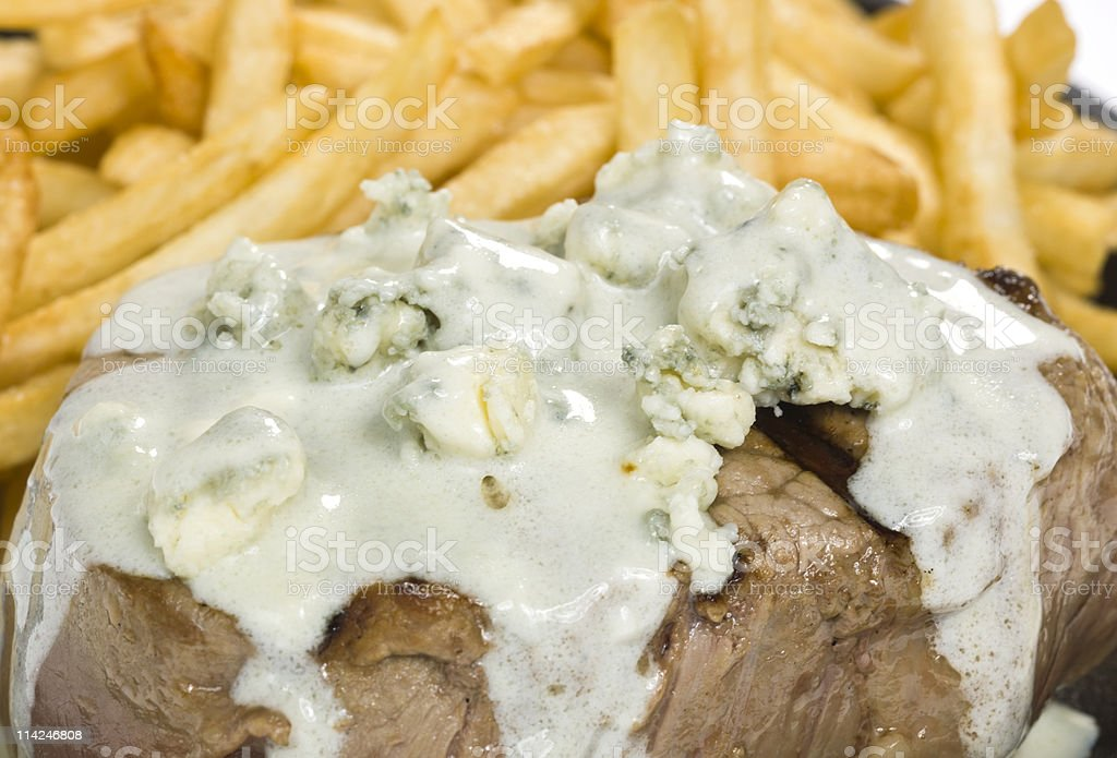 Chunky Blue Cheese cream sauce topping royalty-free stock photo