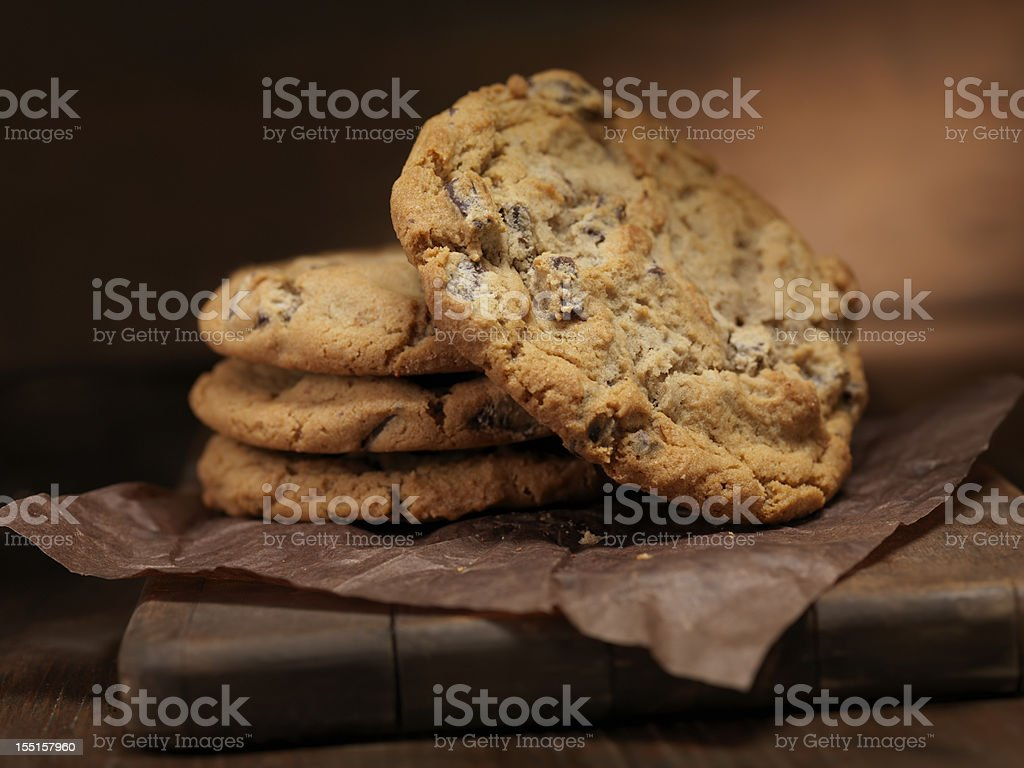 Chunky Chocolate Chip Cookie stock photo