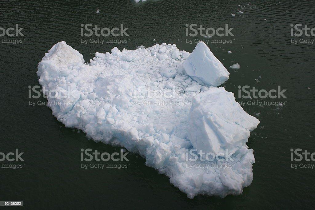 chunky ice floe royalty-free stock photo