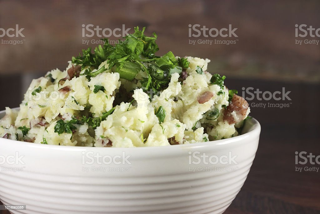Chunky Style Mashed Red Potatoes royalty-free stock photo