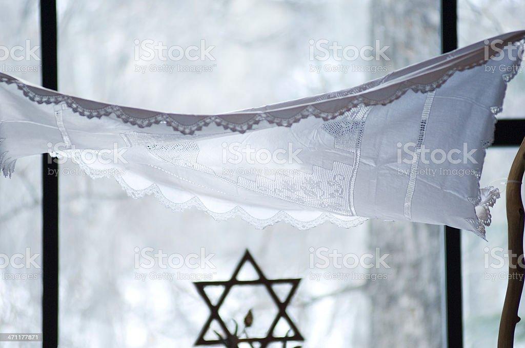 Chupah at Jewish Wedding stock photo