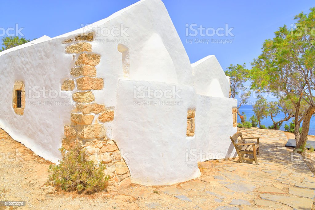 Church Agios Georgios Sarantaris. stock photo