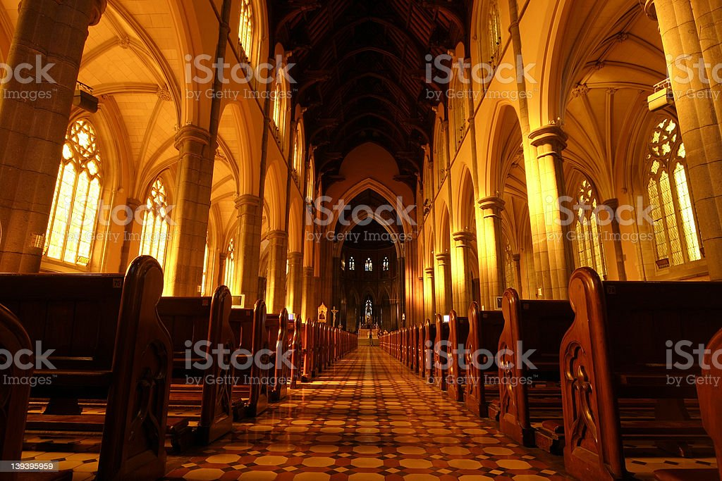 Church Aisle royalty-free stock photo