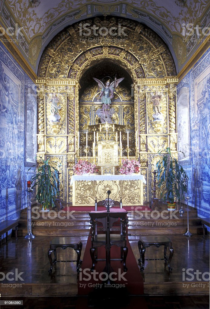 Church alter area royalty-free stock photo