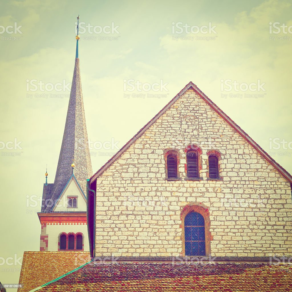 Church and Belfry stock photo