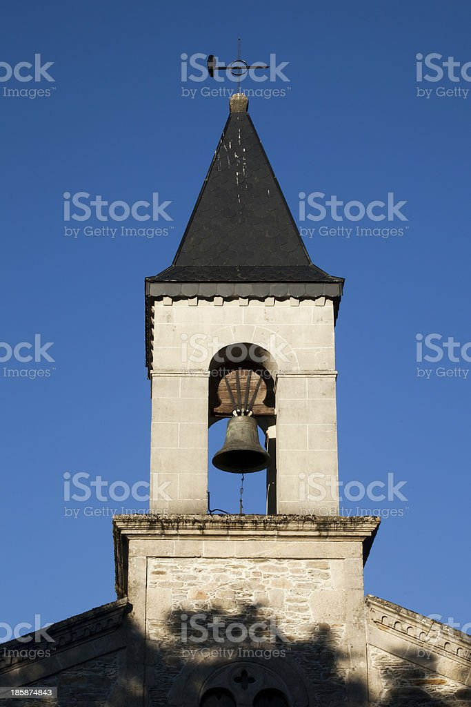 Church and bell tower royalty-free stock photo