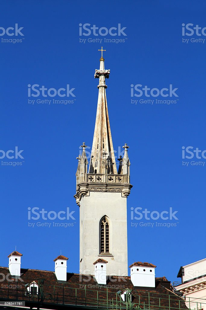Church and Blue stock photo