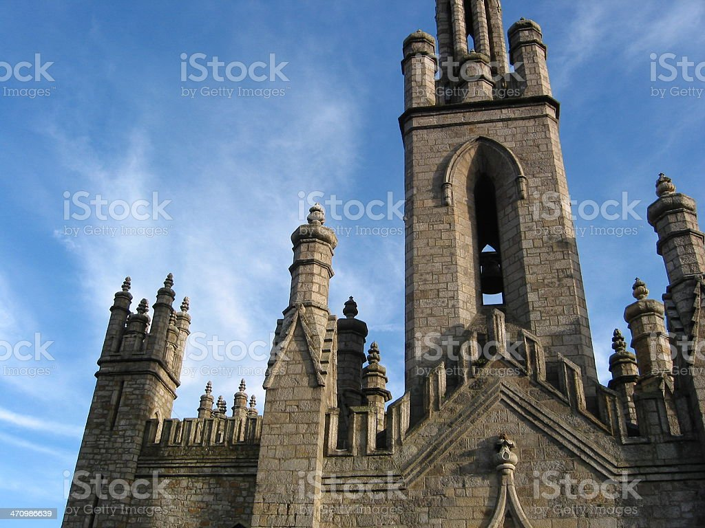 Church and Blue Sky stock photo