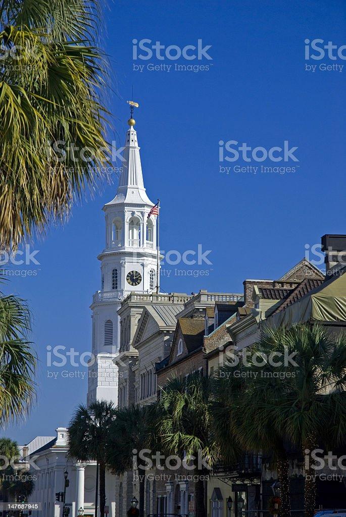 Church and Charm of Charleston, SC royalty-free stock photo