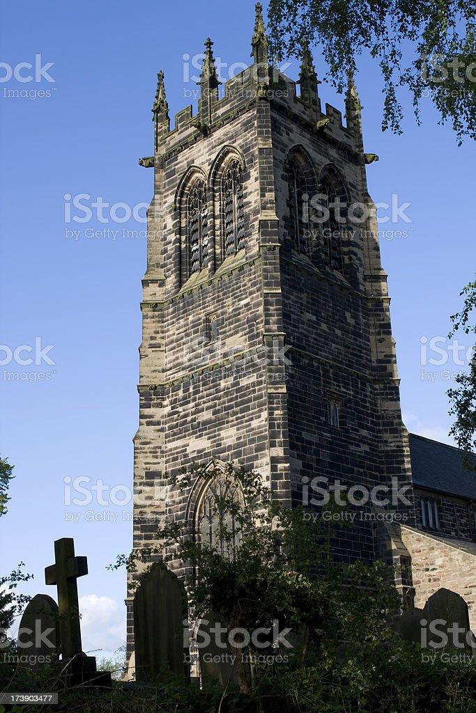 Church and churchyard royalty-free stock photo