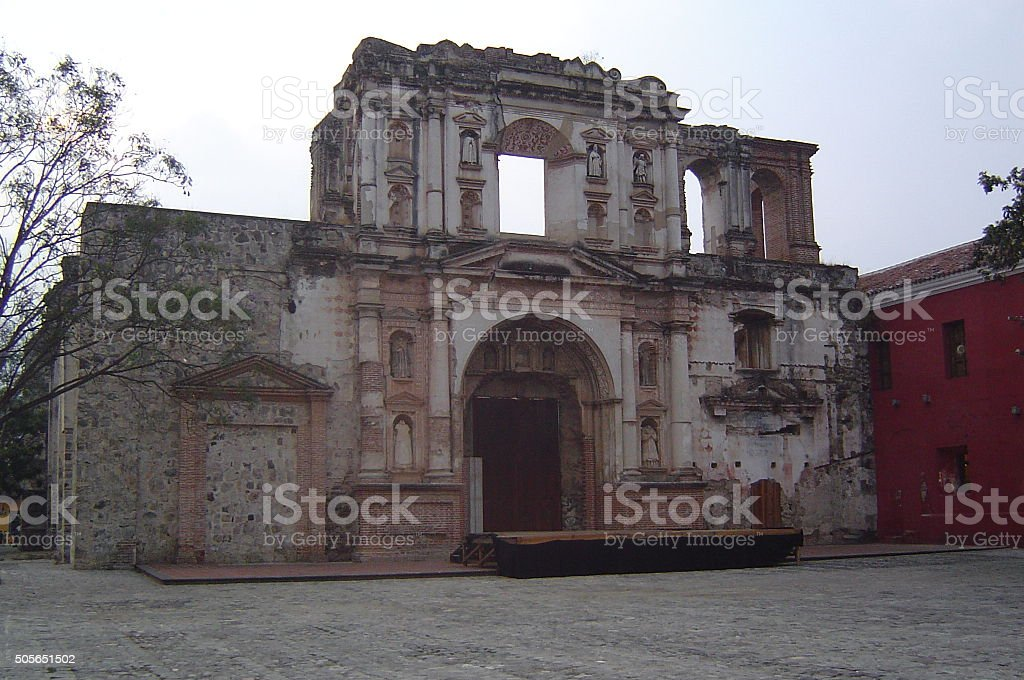 Church and Convent of the Society of Jesus Antigua stock photo