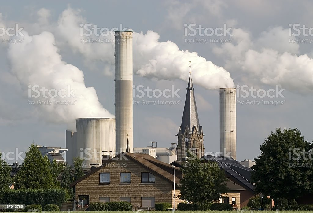 Church and Industry stock photo