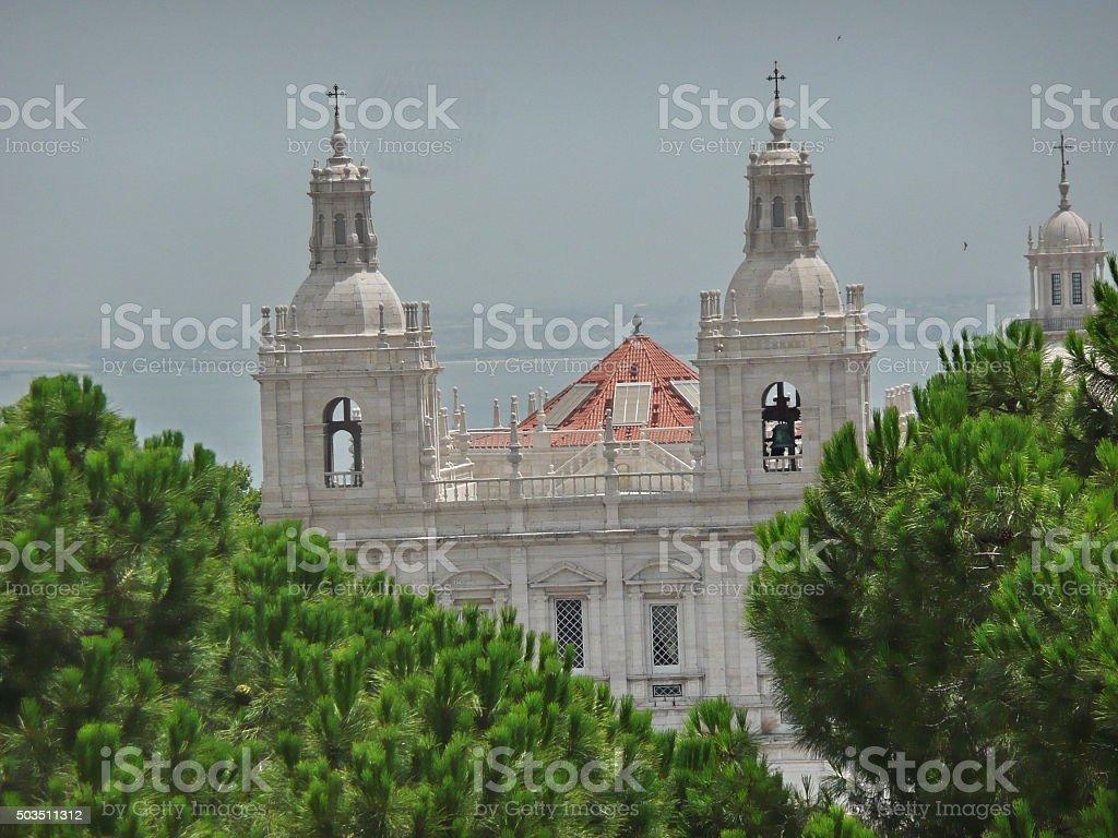 Church and monastery of Sao Vicente de Fora, Lisbon, Portugal stock photo