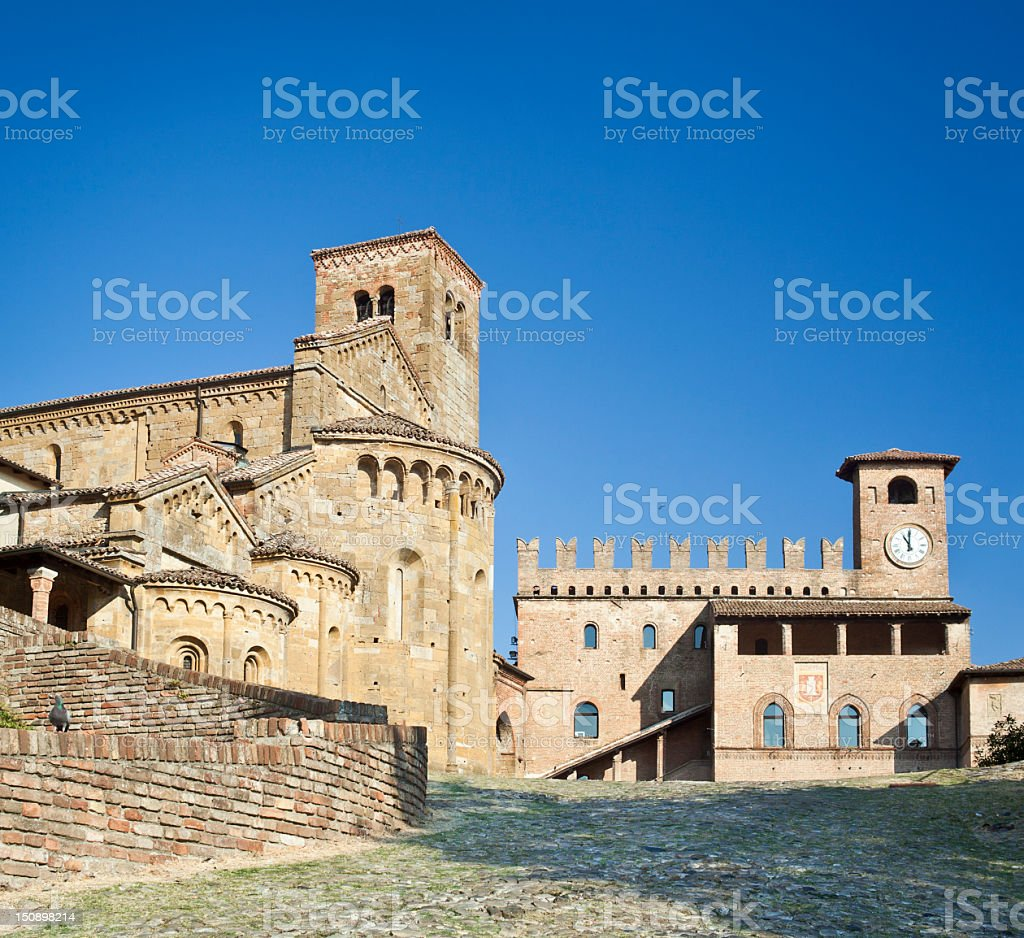 Church And Palace In The Village Of Castell'Arquato royalty-free stock photo