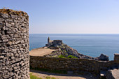 Church and ruins at Porto Venere in Italy