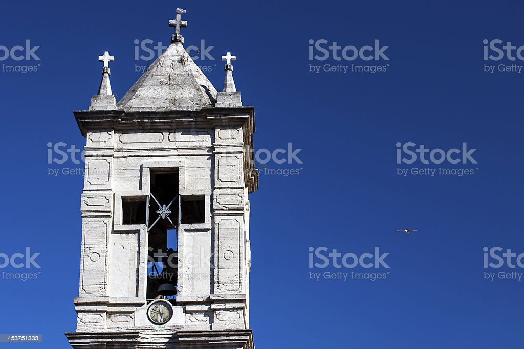 Church and the SeaGull royalty-free stock photo