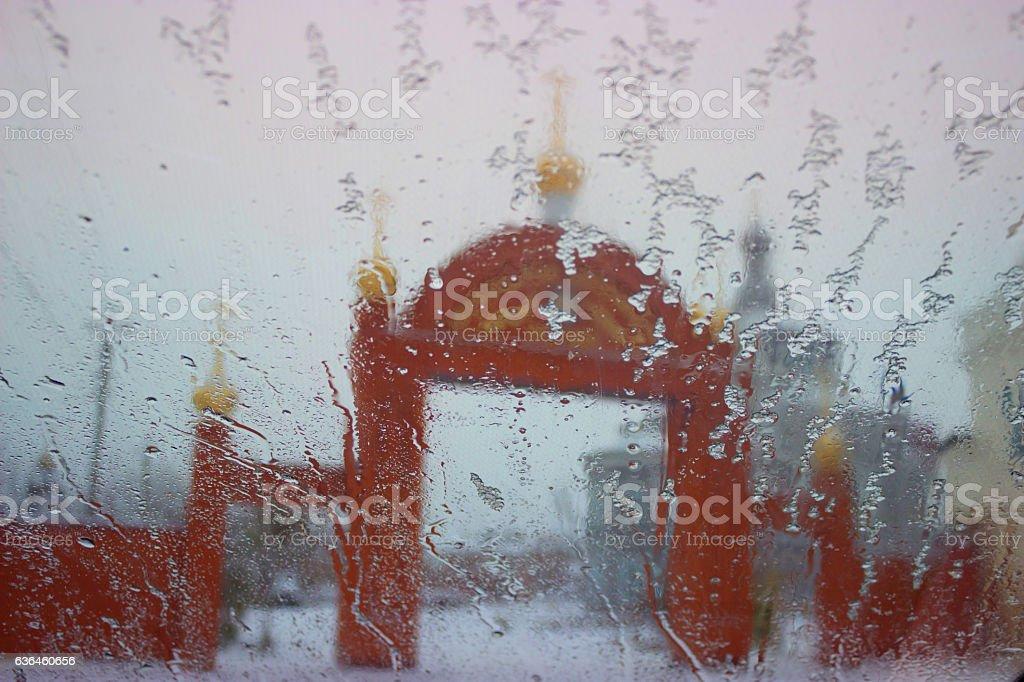 church arch gate stock photo