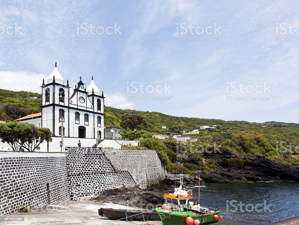 Church at Calheta de Nesquim, Pico, Azores stock photo