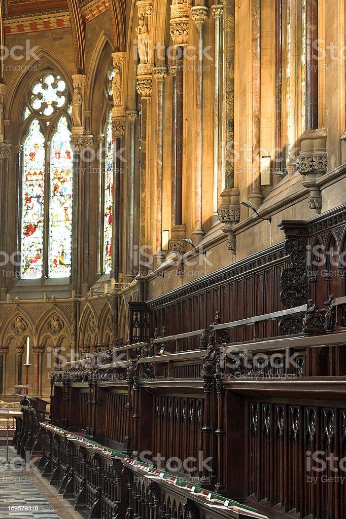 Church at Cambridge University, England royalty-free stock photo