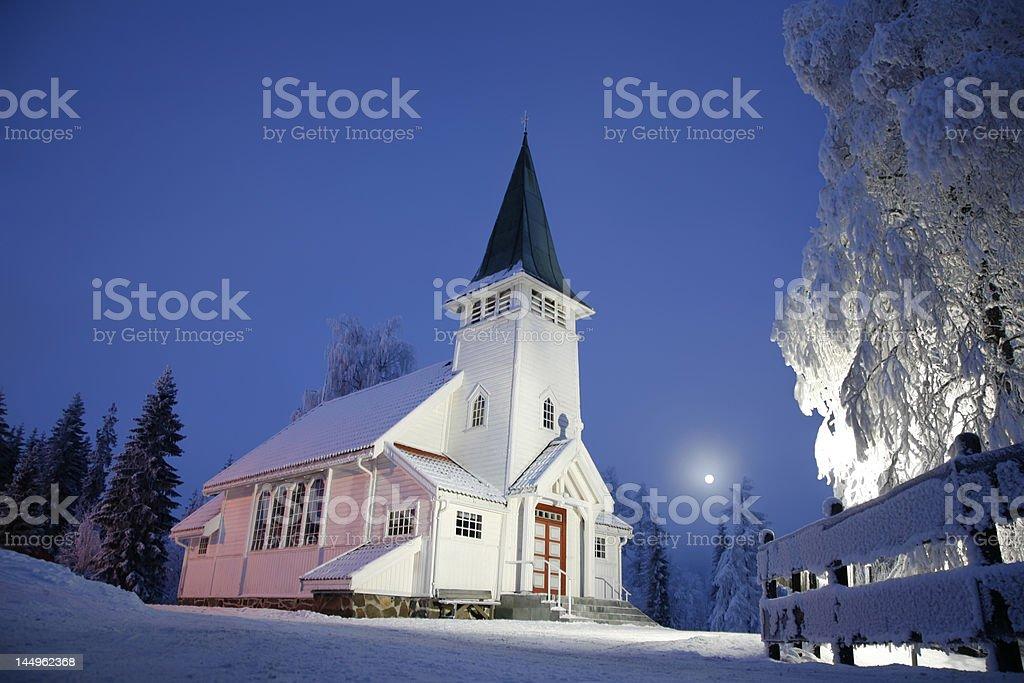 Church at Christmas royalty-free stock photo