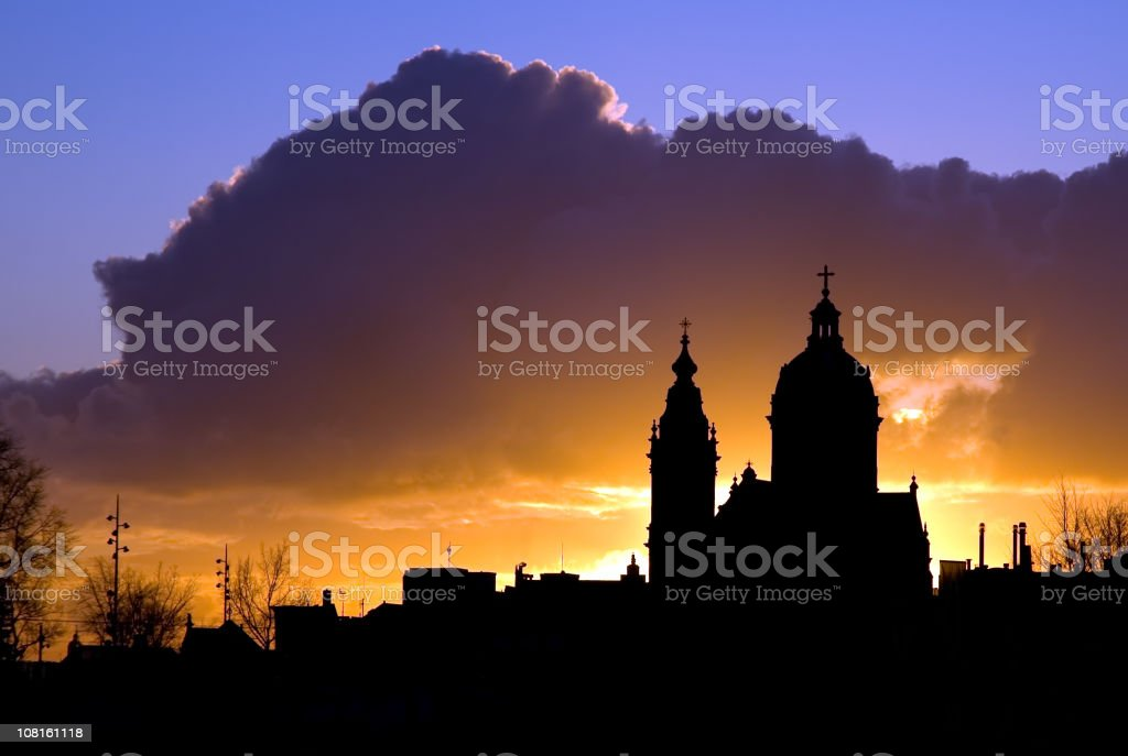 Church at Dawn royalty-free stock photo