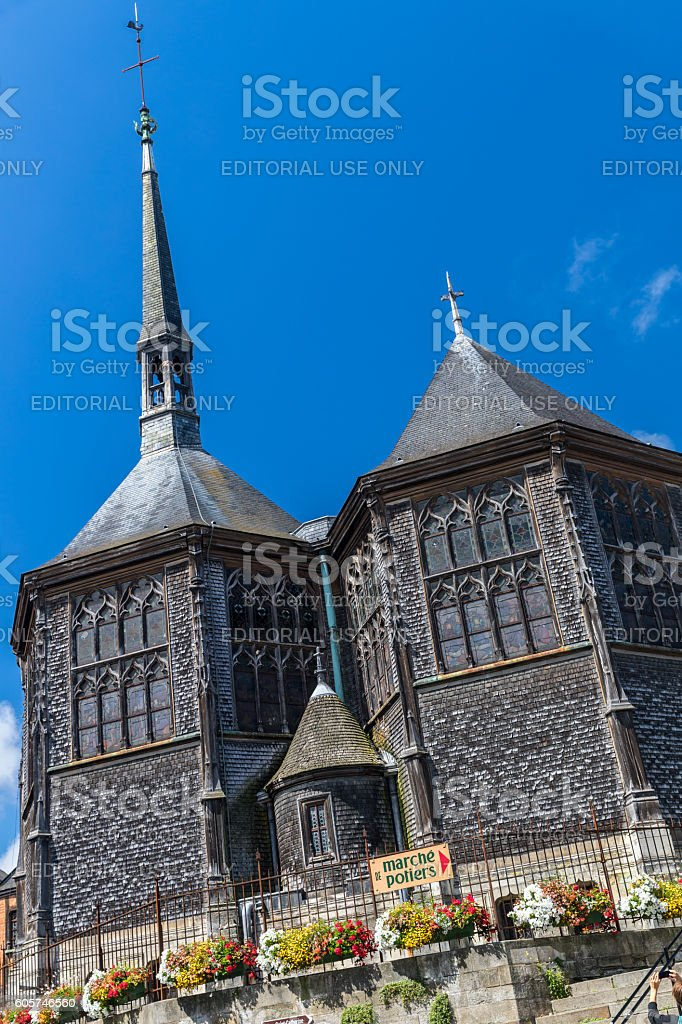 Church at Honfleur, Normandy, France stock photo