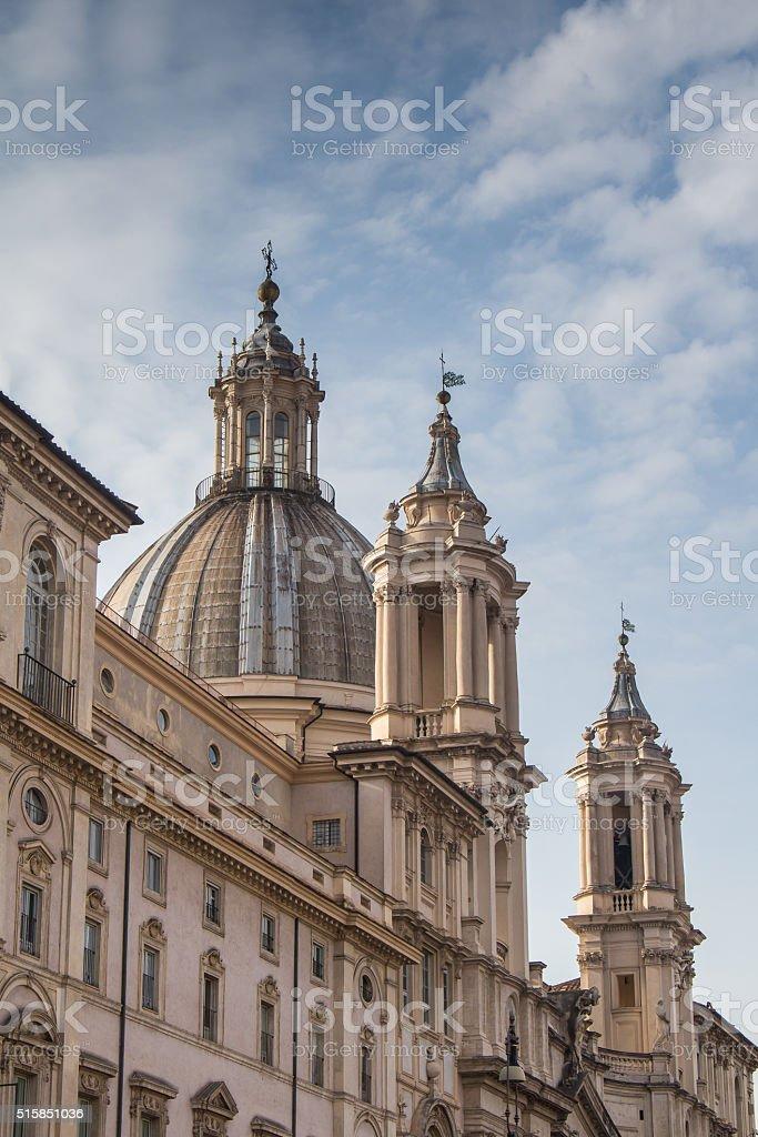 Church at Navona Square, Rome, Italy stock photo