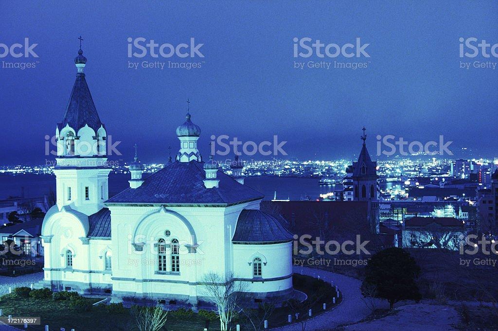 Church at night royalty-free stock photo