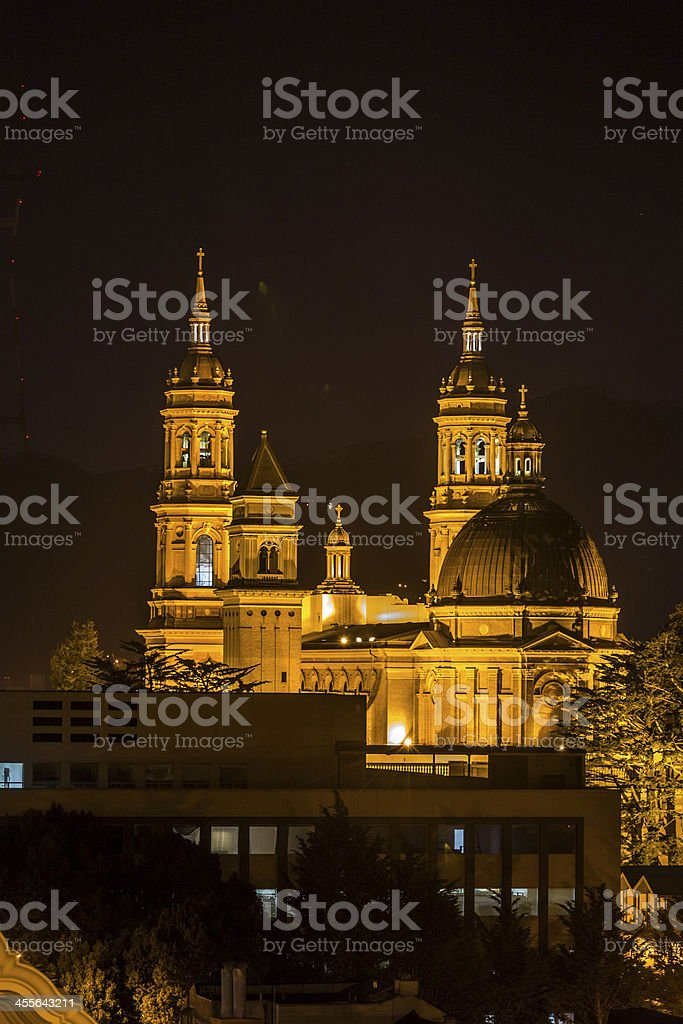 Church at night stock photo
