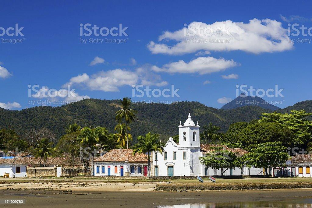Church at Paraty stock photo