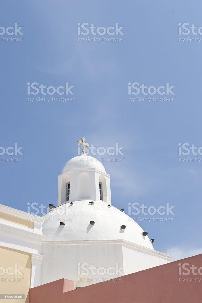 Church at Santorini royalty-free stock photo