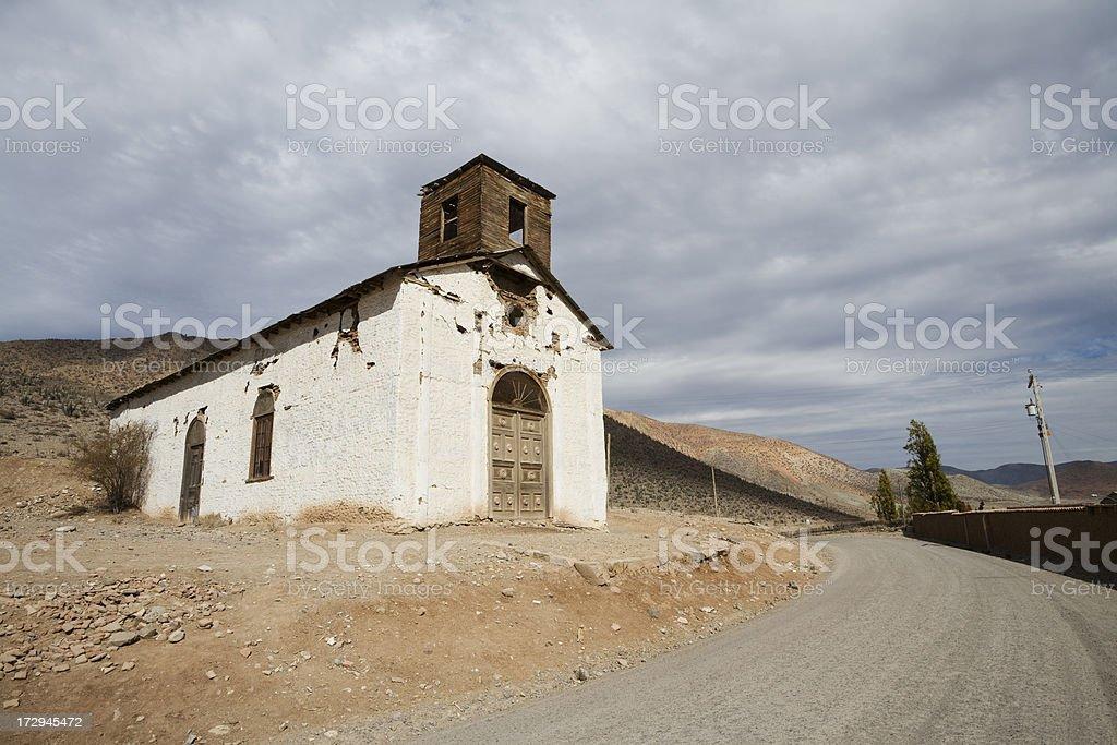 Church at Seron in Chile stock photo