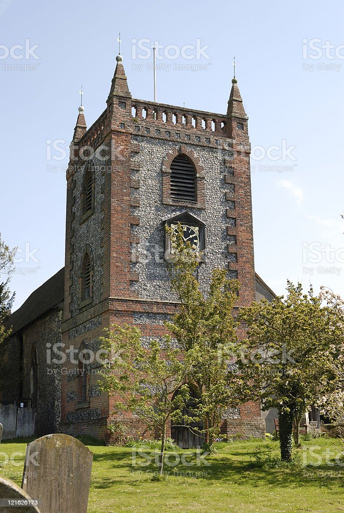 Church at Shoreham. Kent. England stock photo