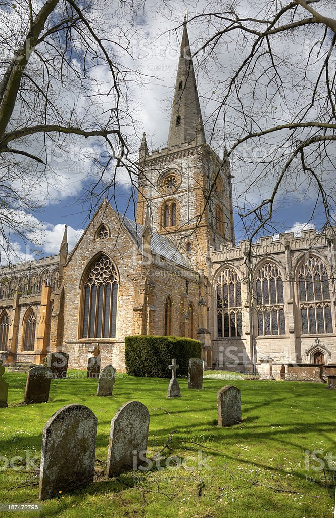 Church at Stratford upon Avon stock photo