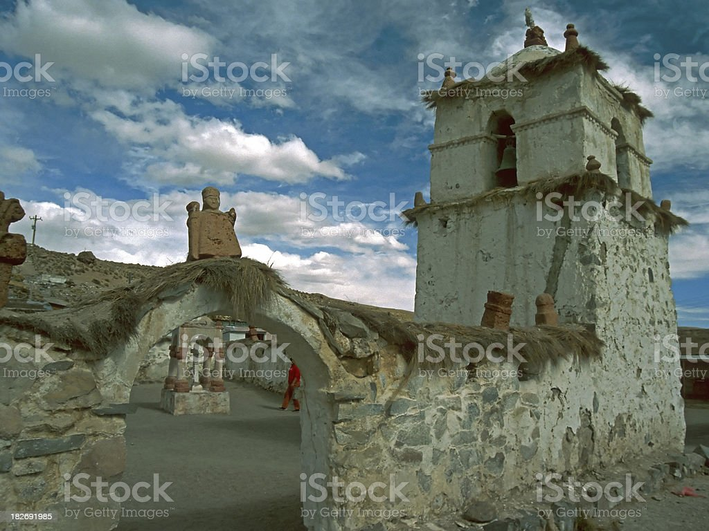 Church at the Altiplano stock photo