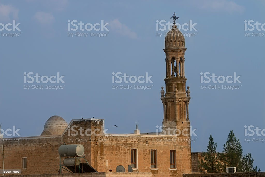 church at the Midyat stock photo