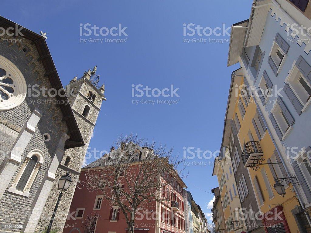 Church Barcelonnette royalty-free stock photo