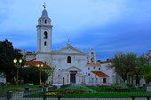 Church Basilica de Nuestra Senora Del Pilar evening, Recoleta Cemetery