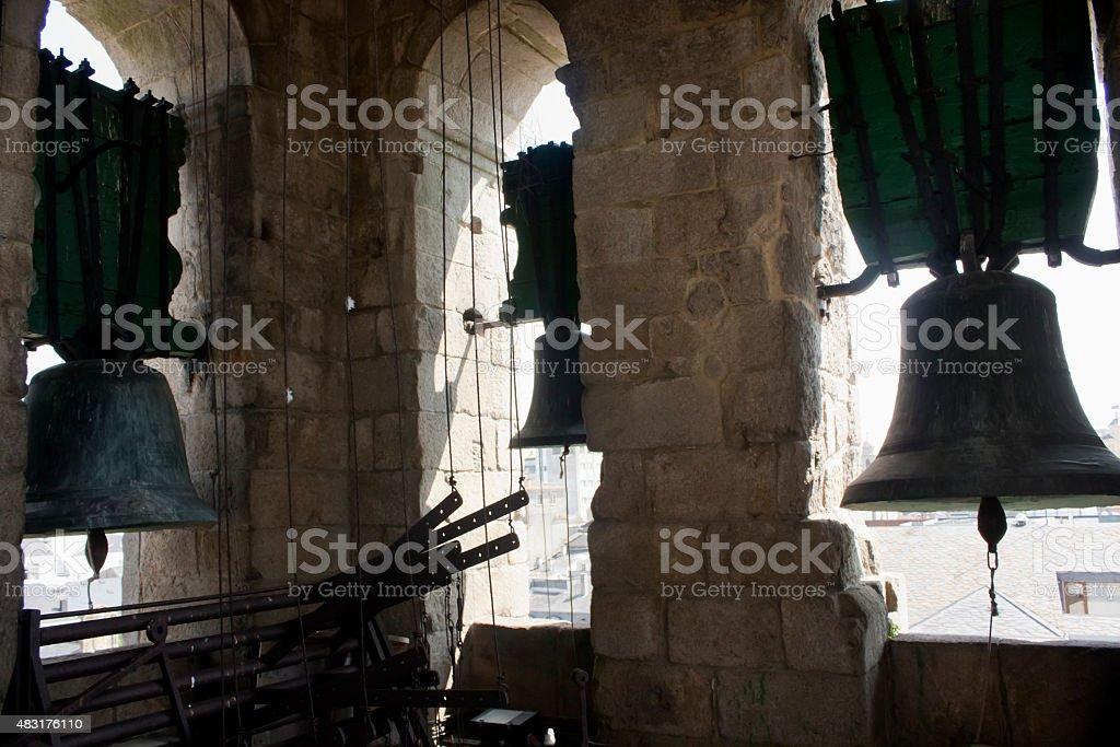 Church Bell carillon. stock photo