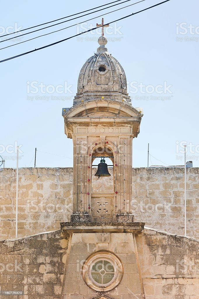 Church Bell Tower in Malta royalty-free stock photo
