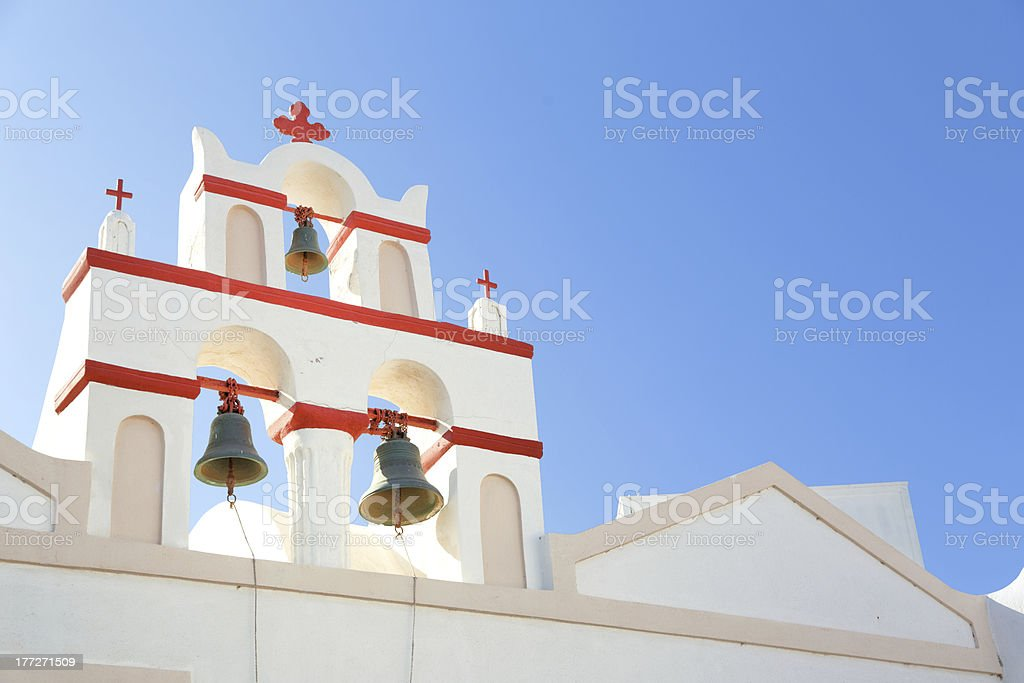 Church bells - Santorini motive (size XXXL) royalty-free stock photo