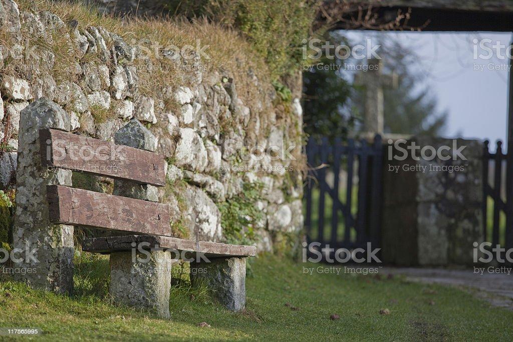 Church bench royalty-free stock photo
