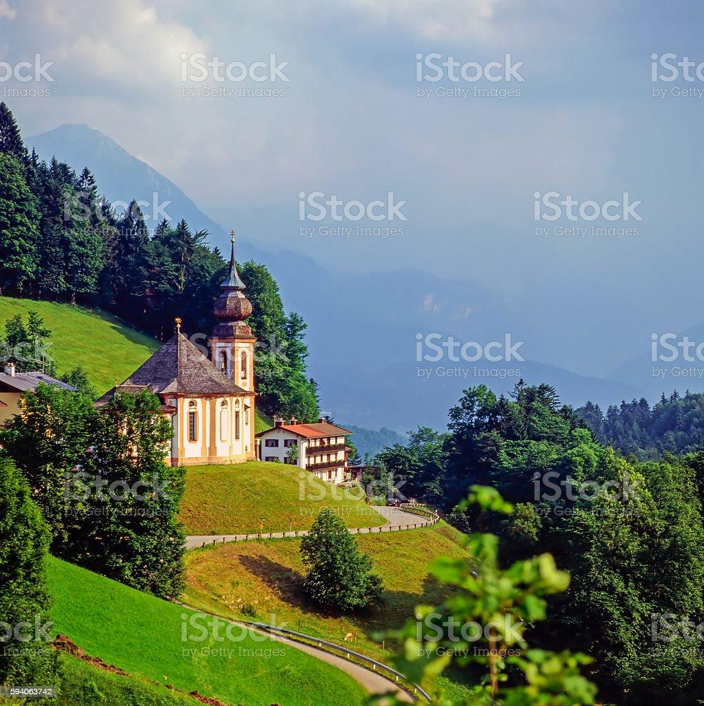 Church , Berchtesgaden stock photo