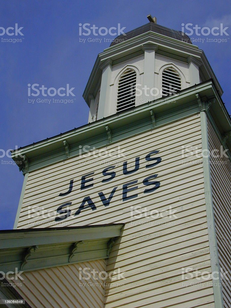 church billboard stock photo